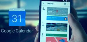 Imagem do Google Agenda sendo utilizado em um smartphone